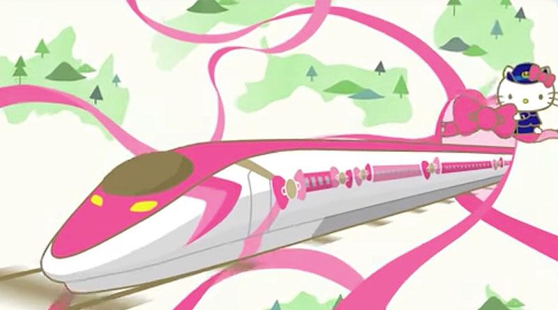 Kereta Cepat bertema Hello Kitty Pertama di Jepang
