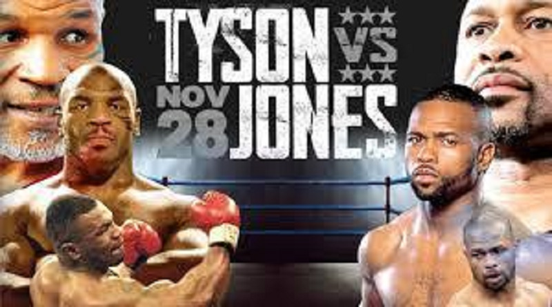 Hasil Pertandingan Mike Tyson Vs Roy Jones JR Berakhir Imbang