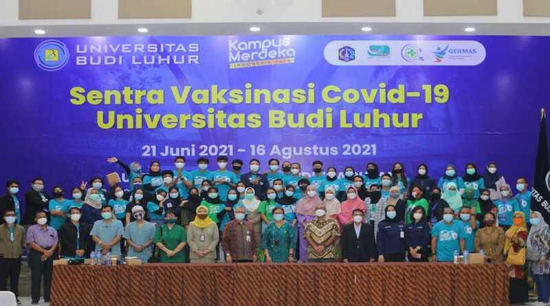Sentra Vaksinasi Covid-19 Universitas Budi Luhur Lampaui Target
